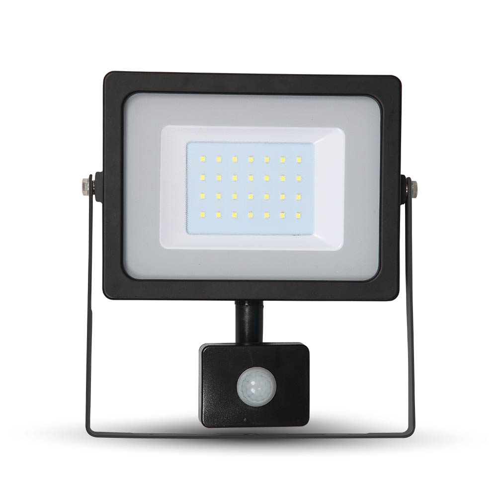 LED Slim Flutlicht 30W Sensor 6400K IP44