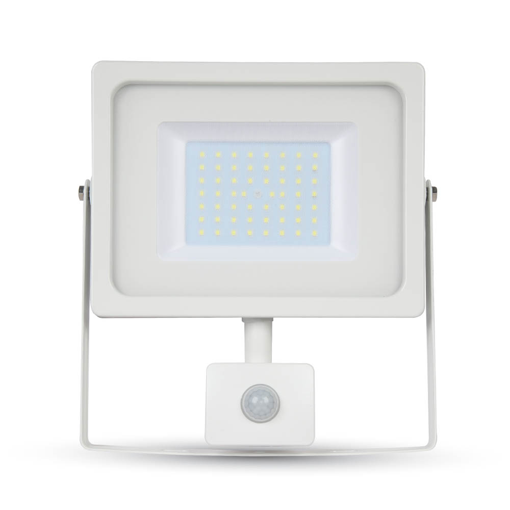 LED Slim Flutlicht 50W Sensor 6400K IP44
