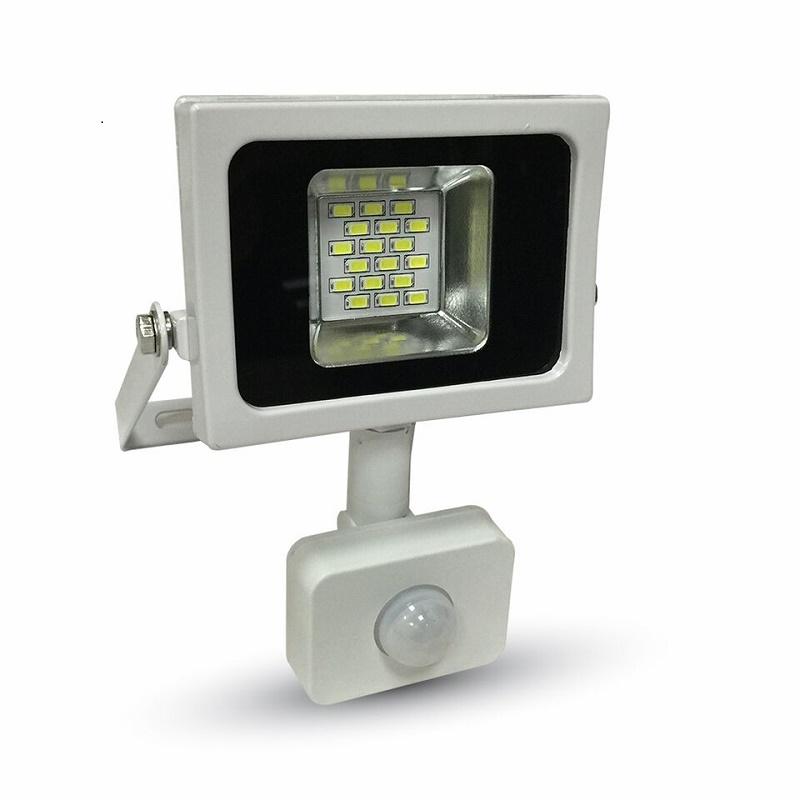 LED Flutlicht 10W 3000K/4500K/6000K Bewegungs- und Tageslichtsteuerung