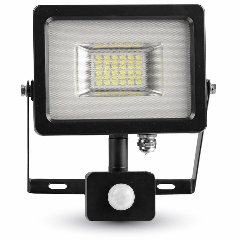 LED Flutlicht 20W 3000K/4500K/6000K mit Bewegungs- und Tageslichtsteuerung