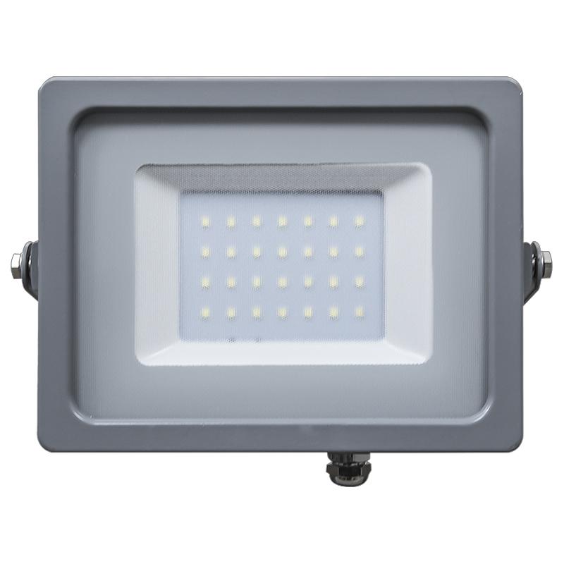 LED Flutlicht 30W Ultra Slim IP65 3000K/4500K/6400K grey Body NEU
