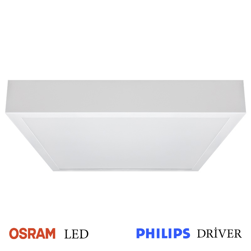 LED Anbaupanel 60x60cm 35W 4000K mit OSRAM LED-Chips und PHILIPS Trafo