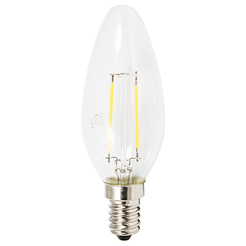 LED Leuchtkerze E14 2W 2700K klar
