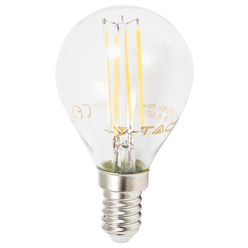 LED Leuchtbirne E14 4W 2700K klar