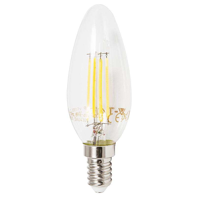LED Leuchtkerze E14 4W 2700K klar