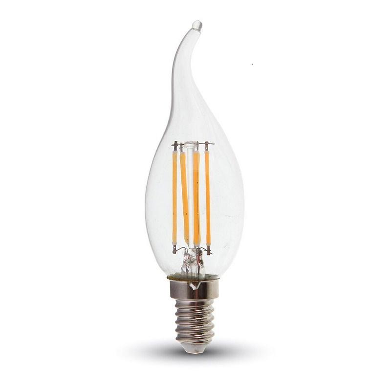 LED Leuchtkerze E14 2W 2700K klar innovativ