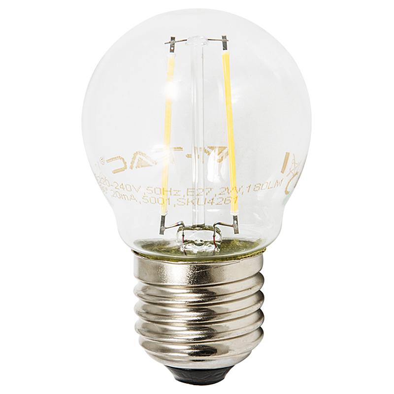 LED Leuchtbirne E27 2W 2700K klar