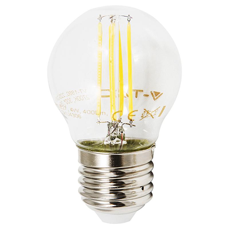 LED Leuchtbirne E27 4W 400lm 2700K klar