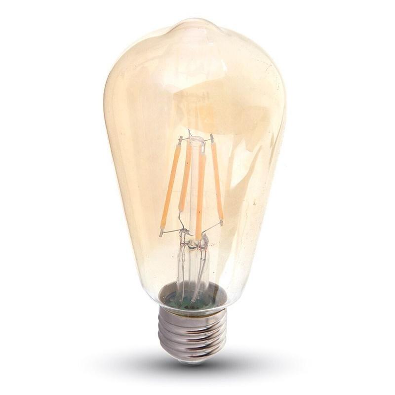 LED Leuchtbirne E27 4W Edison 2200K Vintage Amber Retro