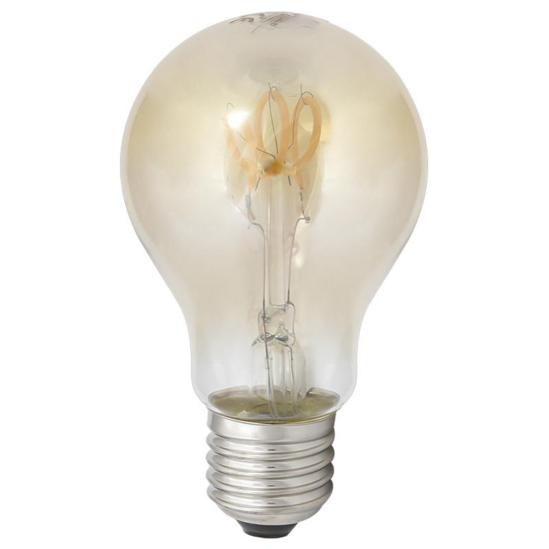 LED Leuchtbirne E27 3W A60 2200K Vintage Curve Filament Amber