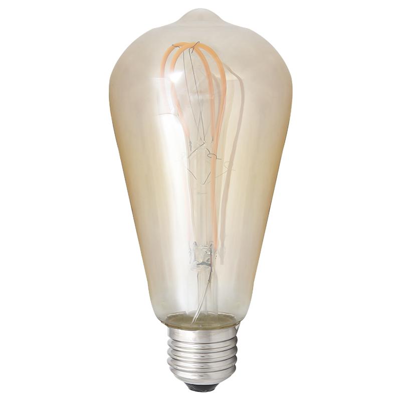 LED Leuchtbirne E27 5W ST64 2200K Vintage Long Bulb Amber