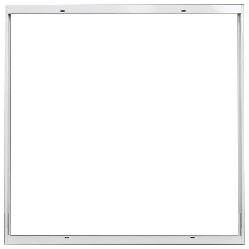 Rahmen für LED Panel 60x60cm Gehäuse Anbau Aufbau Aufputz Clipsystem