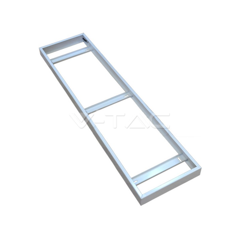 Steckrahmen für LED Panel 120x30cm Anbau Aufbau Aufputz Montage
