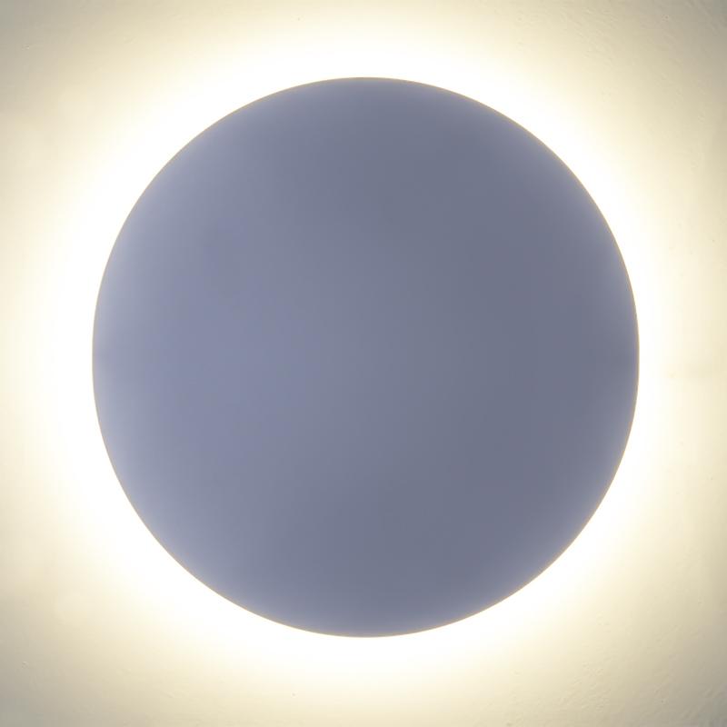 Solar eclipse LED indirekte Wand Leuchte rund weiß 6W IP65 660Lm 3000K