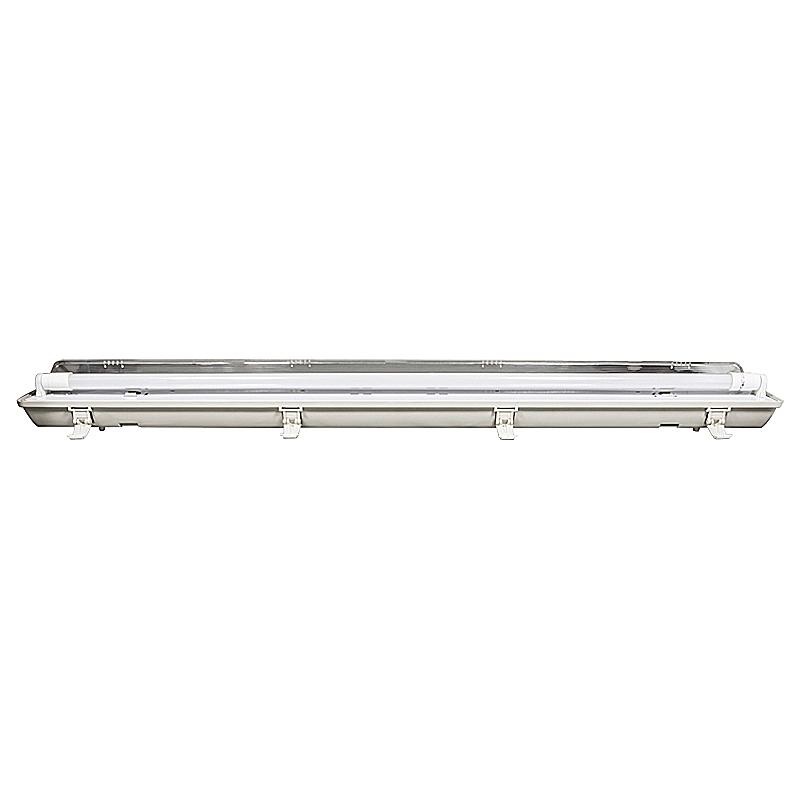 Wannenleuchte IP65 mit LED Röhre 18W T8 G13 4500K 120cm 1-flammig