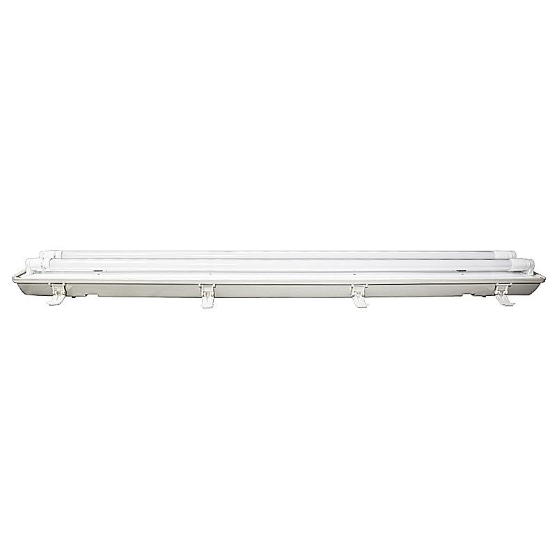 Wannenleuchte IP65 mit 2 LED Röhren 22W T8 G13 4500K 150cm 2-flammig
