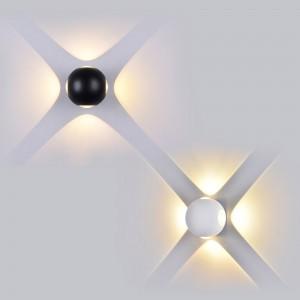 LED Wandleuchte 4W 3000K rund innen außen ip65 Gehäuse weiß